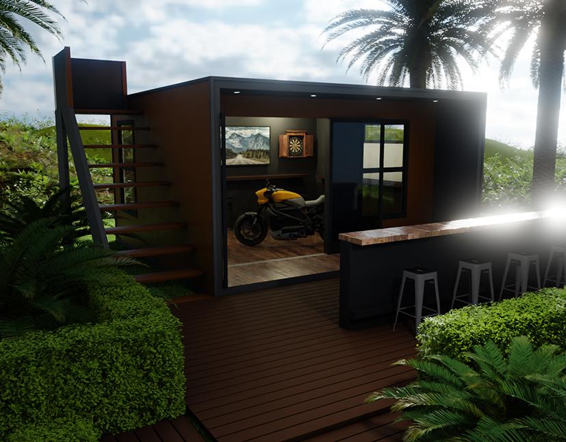 Man Pod Backyard Modular Space